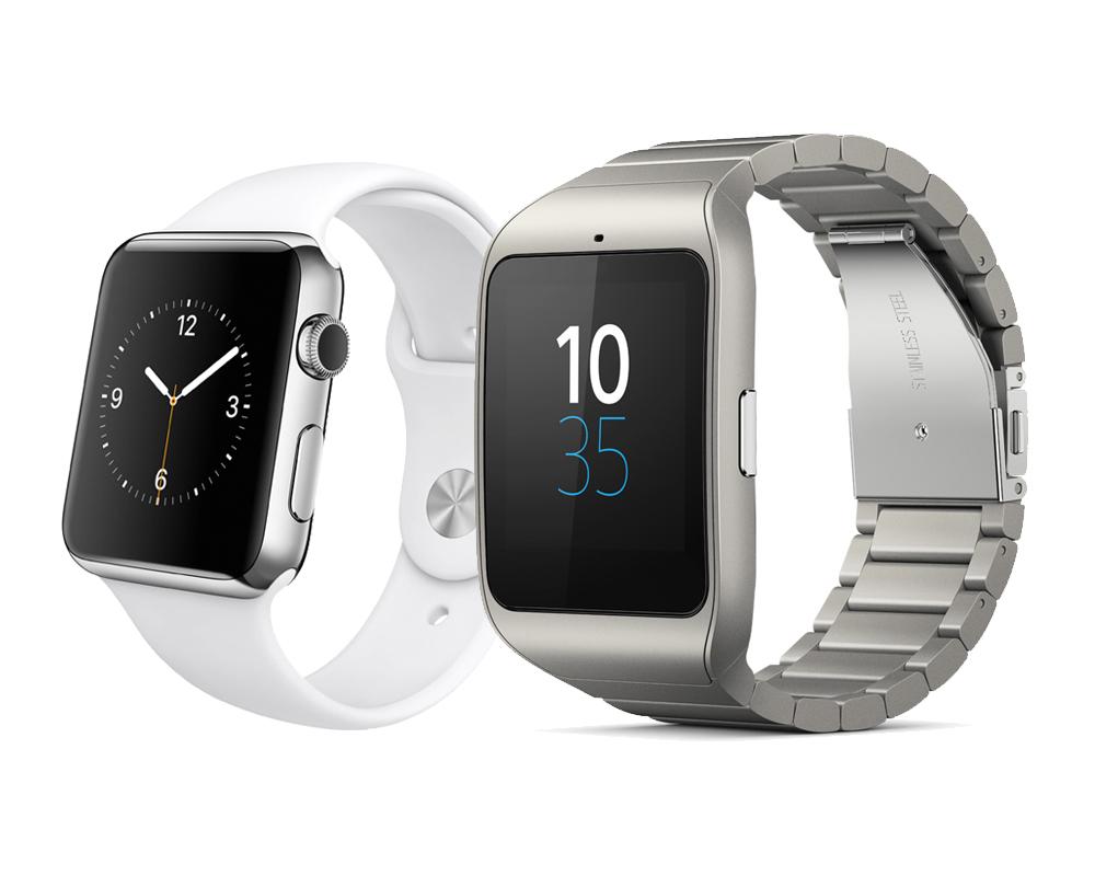 comparatif entre la sony smartwatch 3 et l 39 apple watch. Black Bedroom Furniture Sets. Home Design Ideas